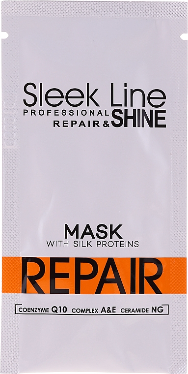Maska do włosów z jedwabiem - Stapiz Sleek Line Repair Hair Mask (próbka)