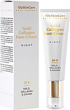 Kup PRZECENA! Kolagenowy krem do twarzy ze złotem na noc - GlySkinCare Gold Collagen Night Face Cream *