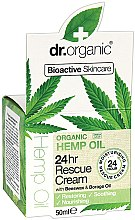 Kup Nawilżający krem do twarzy Organiczny olej konopny - Dr. Organic Hemp Oil 24hr Rescue Cream