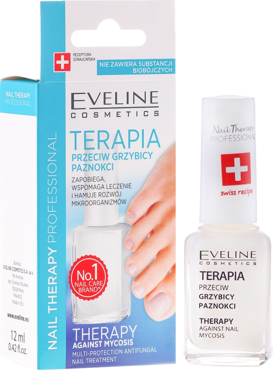 Terapia przeciw grzybicy paznokci - Eveline Cosmetics Nail Polish for Nail Fungus Feet & Hands Mykose