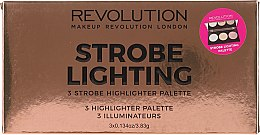 Kup Paleta rozświetlaczy do twarzy - Makeup Revolution 3 Strobe Highlighter Palette