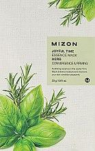Kup Ujędrniająca maska na tkaninie do twarzy Zioła - Mizon Joyful Time Essence Mask Herb