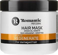 Kup PRZECENA! Regenerująca maska do włosów zniszczonych z olejem arganowym i keratyną - Romantic Professional Helps to Regenerate*