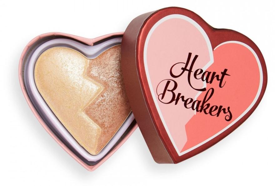 Podwójny rozświetlacz do policzków - I Heart Revolution Heart Breakers Powder Highlighter