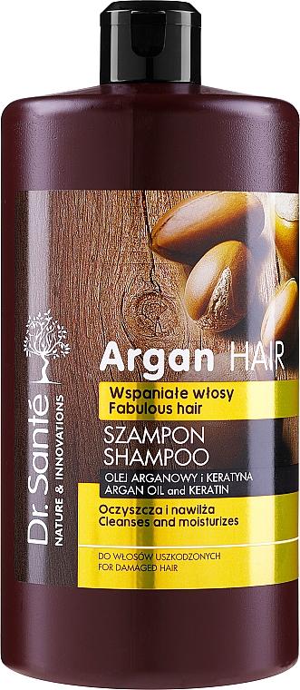 Nawilżający szampon Olej arganowy i keratyna - Dr. Sante Argan Hair