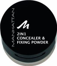Kup Korektor i puder do twarzy 2 w 1 - Manhattan 2in1 Concealer & Fixing Powder