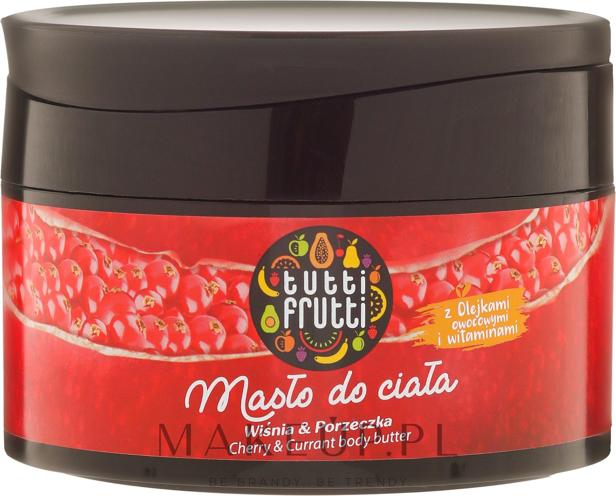 Regenerujące masło do ciała Wiśnia i porzeczka - Farmona Tutti Frutti Cherry & Currant — фото 200 ml