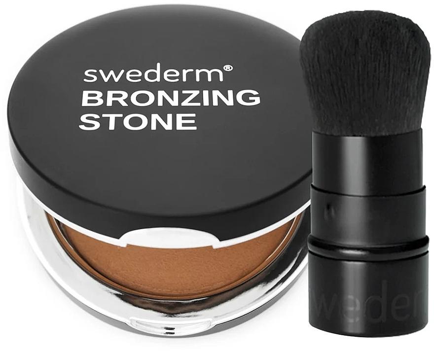 Zestaw - Swederm (bronzer/13g + kabuki brush/1pcs) — фото N1