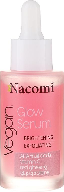 Rozjaśniająco-złuszczające serum do twarzy - Nacomi Vegan Glow Serum — фото N1