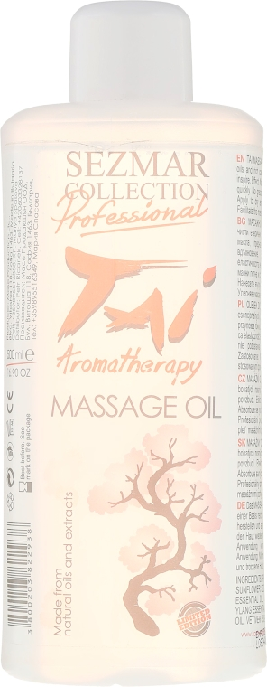 Olejek do masażu Tai - Sezmar Collection Professional Tai Aromatherapy Massage Oil — фото N1