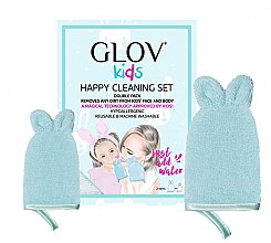 Kup Zestaw rękawic do mycia - Glov Kids Happy Cleaning Set Blue (big glove + small glove)