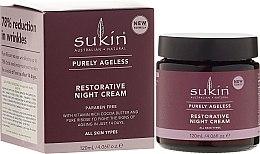Regenerujący krem przeciwstarzeniowy do twarzy na noc - Sukin Purely Ageless Restorative Night Cream — фото N1