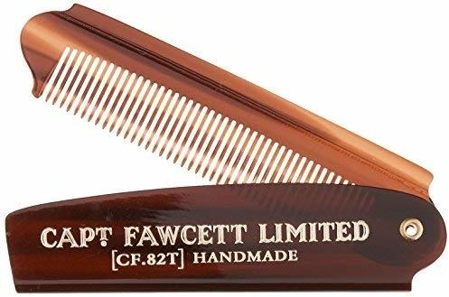 Składany grzebień do brody, CF82T - Captain Fawcett Folding Pocket Beard Comb — фото N1