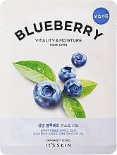 Kup PRZECENA! Maska na tkaninie do twarzy - It's Skin The Fresh Blueberry Mask Sheet *