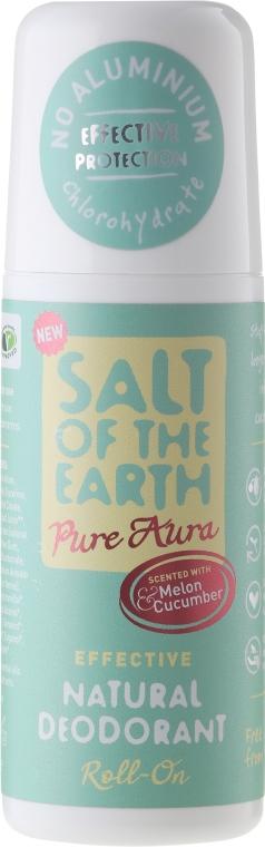 Naturalny dezodorant w kulce - Salt of the Earth Melon & Cucumber Natural Roll-On Deodorant — фото N1