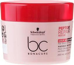 Kup Głęboko odżywcza maska do grubych i normalnych włosów zniszczonych - Schwarzkopf Professional BC Peptide Repair Rescue Deep Nourishing Mask