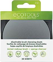 Kup Rozpuszczalne płatki do czyszczenia pędzli do makijażu - EcoTools Dissolvable Brush Cleansing Sheets