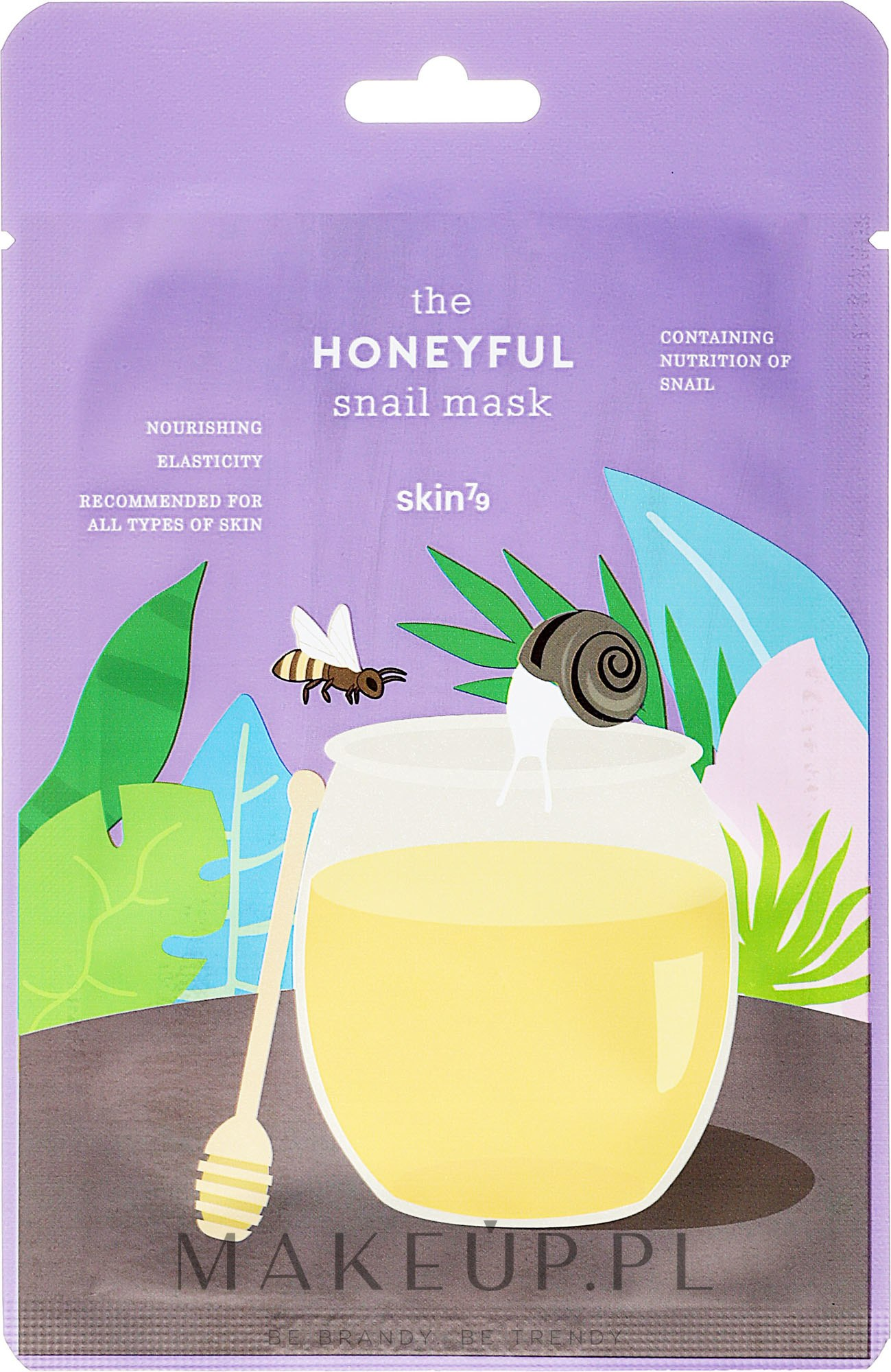 Odżywcza maska w płachcie Miód - Skin79 The Honeyful Snail Mask — фото 20 ml