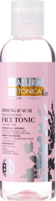 Tonik odświeżający do twarzy Żeń-szeń i jagody acai - Natura Estonica Ginseng & Acai Face Tonic
