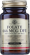 Kup Suplement diety Kwas foliowy Metafolin 400mcg - Solgar Health & Beauty Folate 666 MCG DFE Metafolin