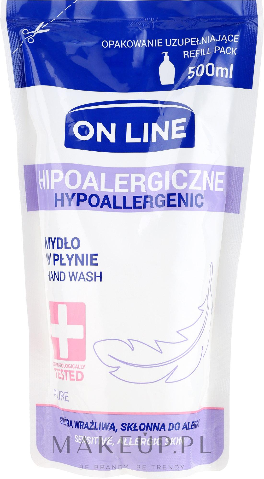 Mydło w płynie - On Line Hypoallergenic Pure Soap (wymienny wkład) — фото 500 ml