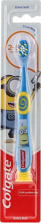 Ekstramiękka szczoteczka do zębów dla dzieci, 2-6 lat, niebiesko-żółta, Minionki - Colgate Smiles Kids Extra Soft — фото N1