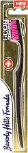 Kup Miękka szczoteczka do zębów, czarno-różowa - Beverly Hills Formula 6008 Filament Multi-Colour Toothbrush