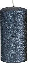 Kup Świeca dekoracyjna, czarny walec, 7 x 10 cm - Artman Glamour