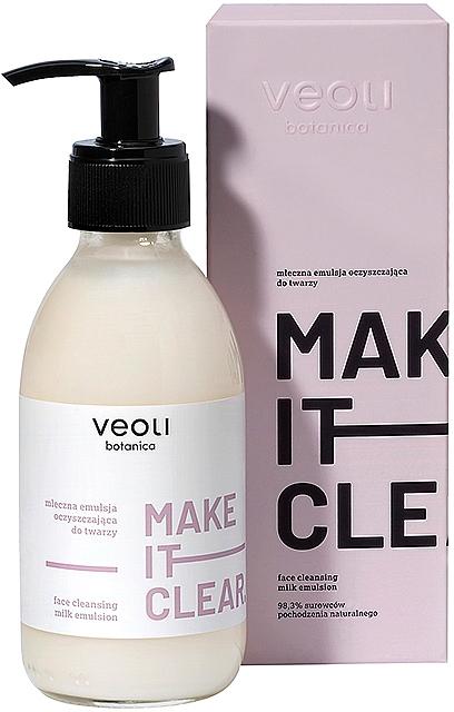 Mleczna emulsja oczyszczająca do twarzy - Veoli Botanica Face Cleansing Milk Emulsion Make It Clear