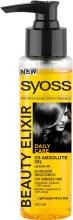 Kup Eliksir piękności z olejkiem absolutnym do włosów suchych i zniszczonych - Syoss Beauty Elixir Absolute Oil