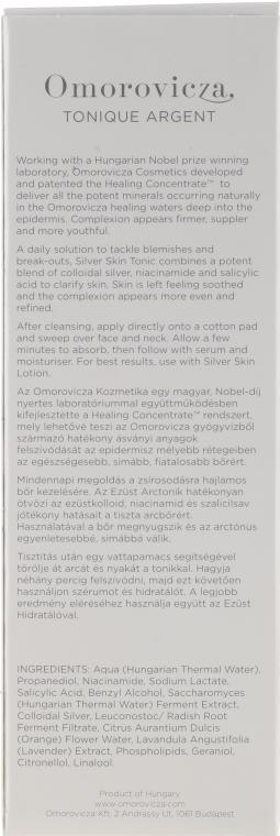Tonik do cery problematycznej skłonnej do wyprysków - Omorovicza Silver Skin Tonic  — фото N3