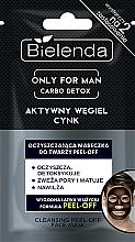 Kup Oczyszczająca maseczka peel-off do twarzy z węglem aktywnym i cynkiem dla mężczyzn - Bielenda Only For Man