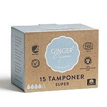 Organiczne tampony bez aplikatora Super, 15 szt. - Ginger Organic — фото N2