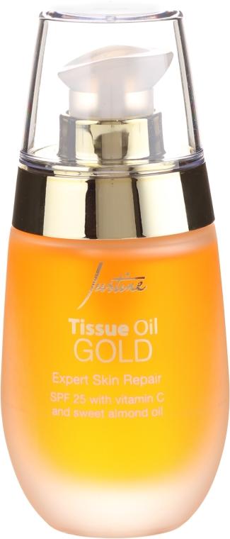 Naprawczy olejek do twarzy z witaminą C i olejem ze słodkich migdałów SPF 25 - Avon Justine Tissue Oil Gold Expert Skin Repair — фото N2