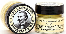Zestaw - Captain Fawcett Sandalwood (moust/wax 15 ml + moust/comb) — фото N3