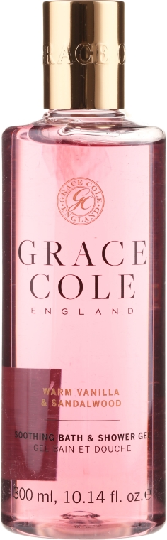 Perfumowany kojący żel pod prysznic i do kąpieli Wanilia i drzewo sandałowe - Grace Cole Warm Vanilla & Sandalwood Soothing Bath & Shower Gel