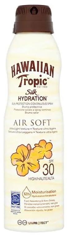 Nawilżający spray przeciwsłoneczny do ciała - Hawaiian Tropic Silk Hydration Air Soft Sunscreen Mist Spf30 — фото N1