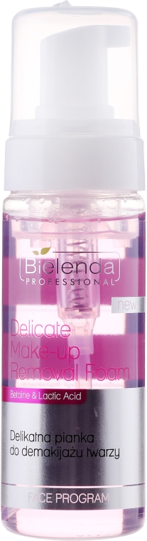Delikatna pianka do demakijażu twarzy - Bielenda Professional Face Program Delicate Make-up Removal Foam — фото N1