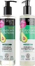 Kup Zestaw do włosów - Organic Shop Lavish (h/shm 280 ml + h/cond 280 ml)