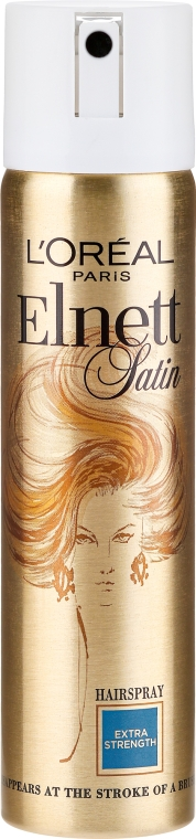 Ekstramocny lakier do włosów - L'Oreal Paris Elnett Satin Extra Strength Hair Spray — фото N1