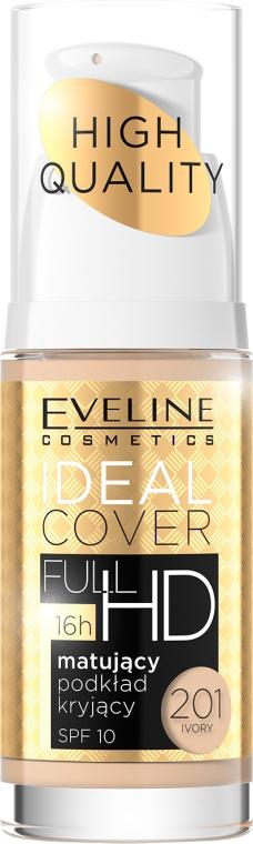Matujący podkład kryjący - Eveline Cosmetics Ideal Cover Full HD SPF 10