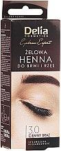 Kup Żelowa henna do brwi Ciemny brąz - Delia Eyebrow Tint