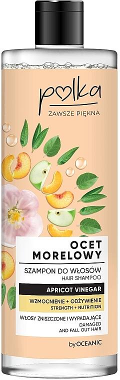 Odżywczy szampon do włosów Wzmocnienie + odżywienie Ocet morelowy - Polka