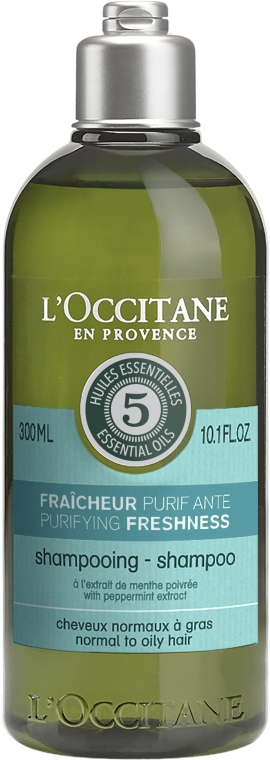 Odświeżający szampon oczyszczający do włosów normalnych i przetłuszczających się - L'Occitane Aromachologie Purifying Freshness Hair Shampoo — фото N1