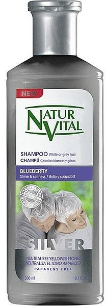 Srebrny szampon do włosów jasnych i siwych - Natur Vital Silver Shampoo — фото N1