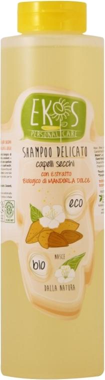 Szampon do włosów suchych, z ekstraktem z organicznych słodkich migdałów - Ekos Personal Care Delicate Shampoo For Dry Hair — фото N1
