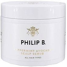 Kup Peeling do skóry głowy z miętą i awokado - Philip B Peppermint Avocado Scalp Scrub