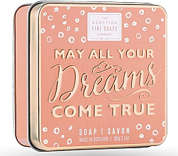 Kup PRZECENA! Mydło do rąk w metalowej puszcze - Scottish Fine Soaps May All Your Dreams Come True Soap In A Tin *