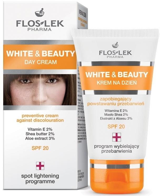Krem na dzień zapobiegający powstawaniu przebarwień (SPF 20) - Floslek White & Beauty Preventive Day Cream Against Discolouration SPF 20