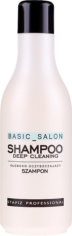 Szampon głęboko oczyszczający do włosów - Stapiz Basic Salon Deep Cleaning Shampoo